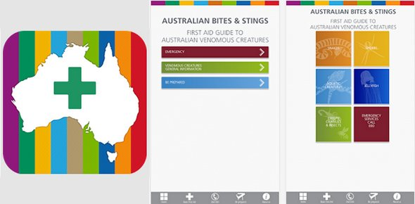 Australian Bites and Stings. iPhone/iPad/android app