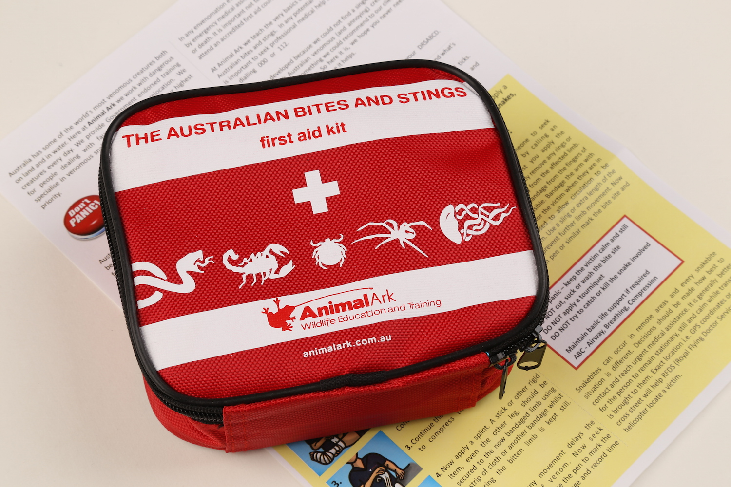 Australian bites and stings first aid kit - available from Animal Ark