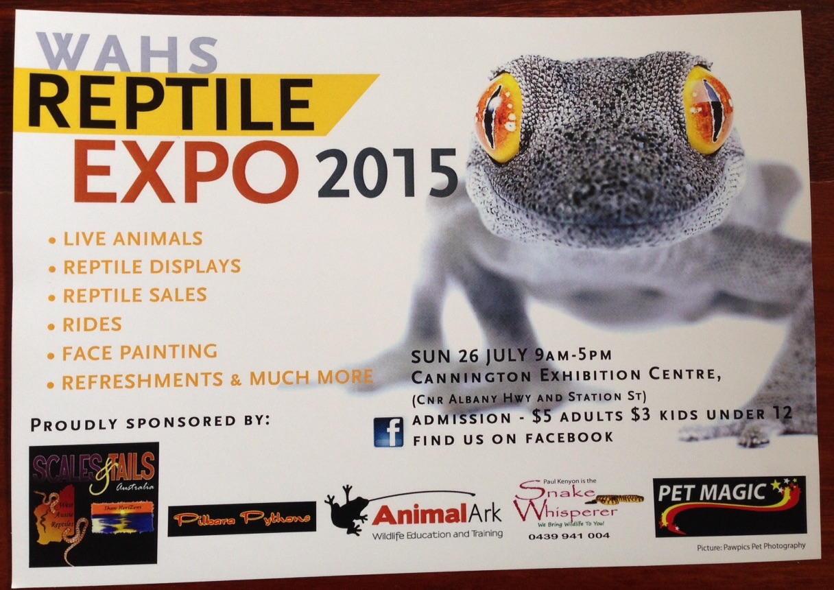 WAHS Expo 2015 flyer
