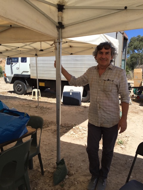 David Manning on set, November 2015