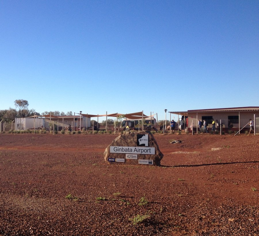 Ginbata airport Roy Hill mine WA