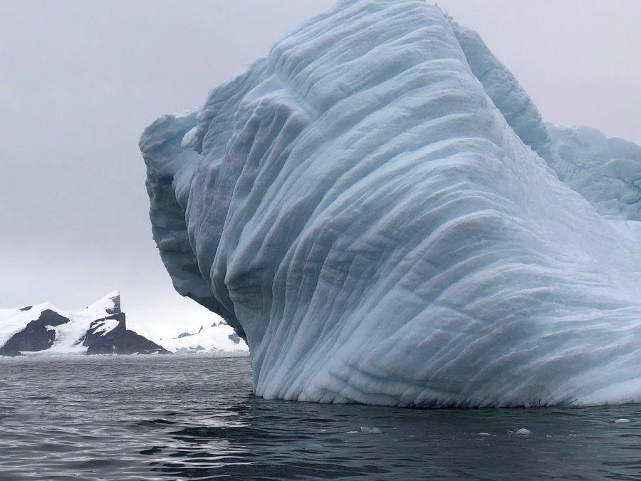 Iceberg with lines, Antarctica. Photo: Animal Ark