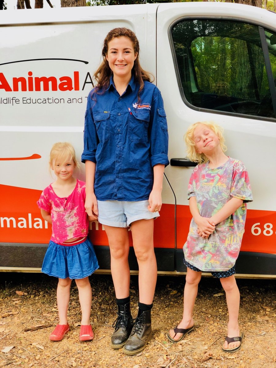 Keely and helpers at Margaret River. Photo: Animal Ark