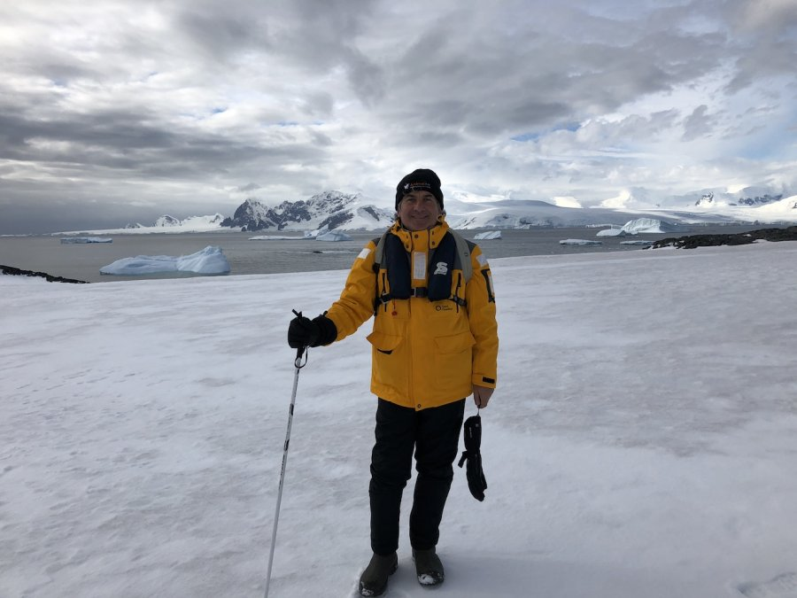 David Manning in Antarctica 2018. Photo: Animal Ark