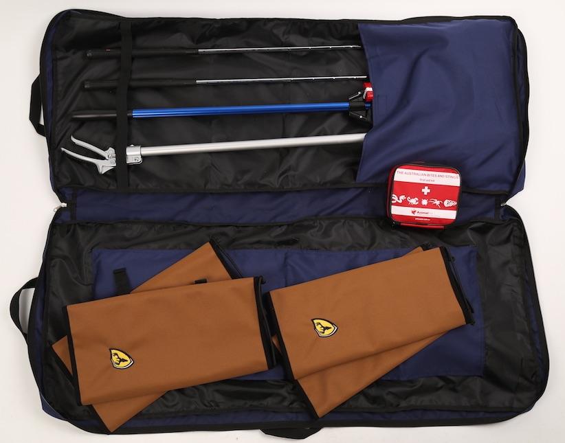 Snake handling team-kit in bag. Animal Ark