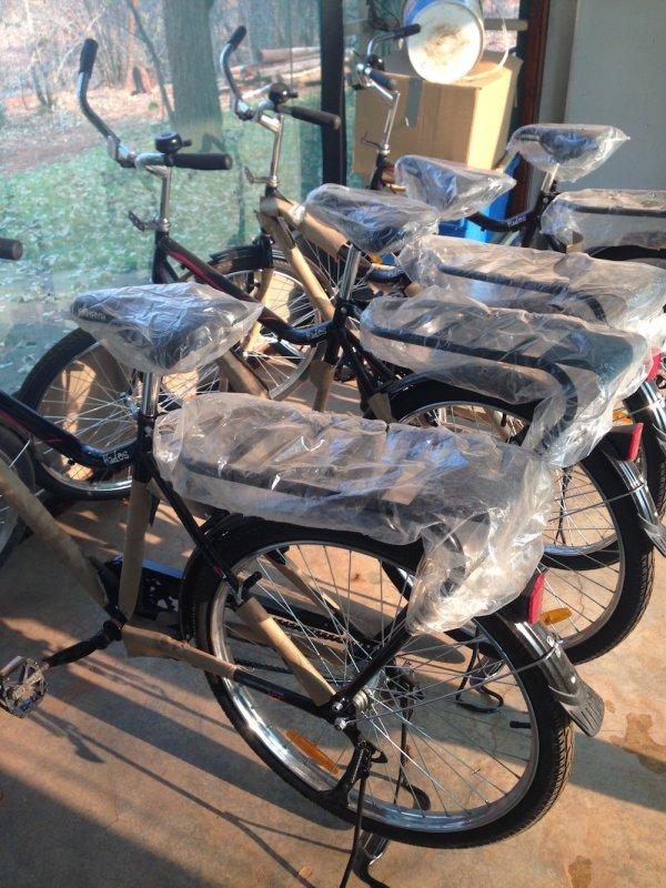 VFWT - New bicylcles for rangers on human wildlife conflict community program. Photo: Animal Ark